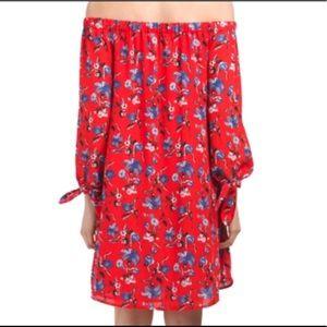 Dahlia Off the Shoulder Floral Dress